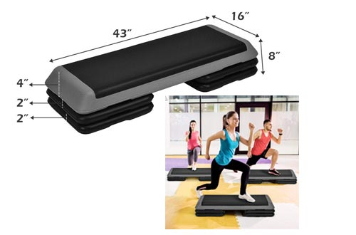 1. GOPLUS Step Platform - Adjustable Fitness