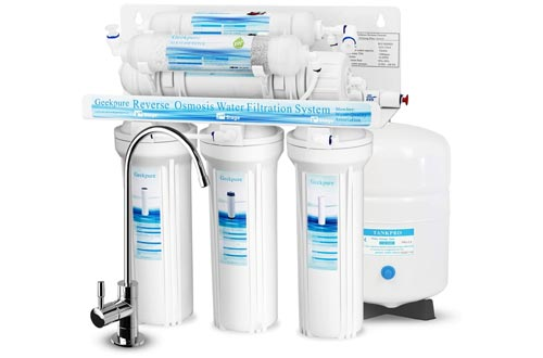 1. Geekpure 6-Stage Water Filter System - Alkaline Mineral pH+ Filter-75GPD