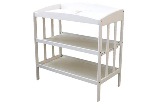 1. LA Baby Wooden Changing Table - A.S.T.M. and C.P.S.C. standards