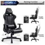 10. Homall Gaming Chair - Office Chair High Back Computer Chair - PU Leather Desk Chair PC Racing Executive Ergonomic - Adjustable Swivel Task Chair with Headrest and Lumbar Support