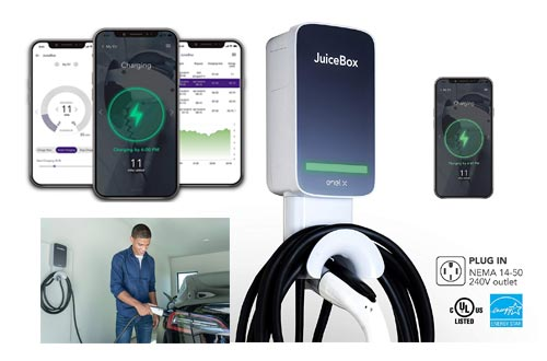 10. JuiceBox Smart Electric Vehicle (EV) Charging Stations - 40 amp Level 2 EVSE, 25-Foot Cable