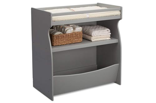 2. Delta Children 2-in-1 Changing Table - Storage Unit with Changing Pad