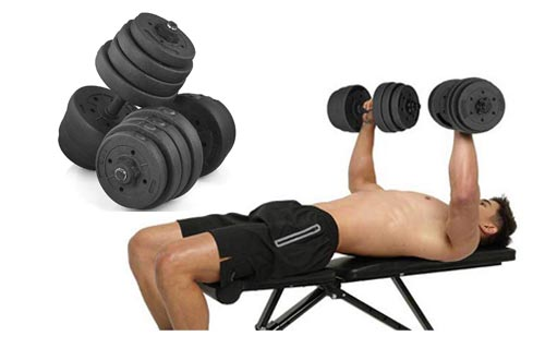 2. Yaheetech Weight Set Fitness - Cap Gym - Home Barbell Plates Body Workout