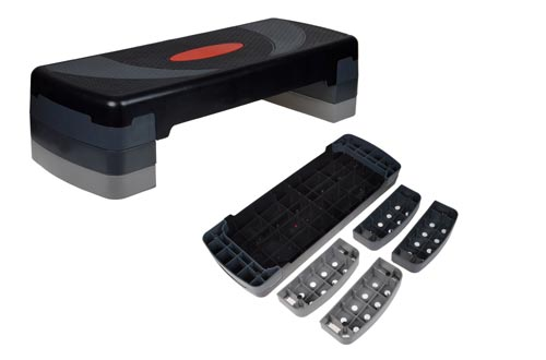 3. TMS Aerobic Step - Adjustable Exercise Fitness Workout Stepper