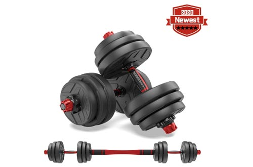 3. shanchar Weights Set - Free Weights Set for Men and Women with Connecting Rod Can Be Used as Barbell for Home Gym Work out Training 2Pair