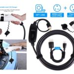 4. BougeRV Level 2 EV Charger Cable - Portable EVSE Electric Vehicle Charging Station