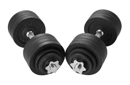 4. PAPABABE Adjustable Dumbbells Cast Iron with Connector 40 50 65 105 200, Adjustable Dumbbell Sets, Lifting Dumbells