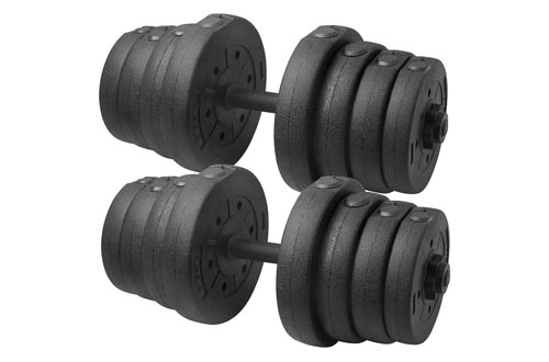 5. Topeakmart 66LB Weight Set Home Gym Barbell Plates Muscle Body Training