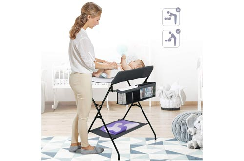 6. Costzon Baby Changing Table - Folding Diaper Station Nursery Organizer for Infant