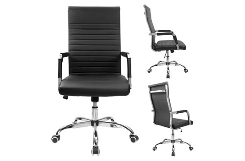 6. Furmax Adjustable Swivel Chair - Office Desk Chair - Leather Executive Conference Task Chair