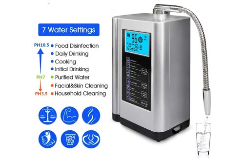 7. AquaGreen Ionizer Machine - 6000 Liters Per Filter, 7 Water Settings, Auto-Cleaning
