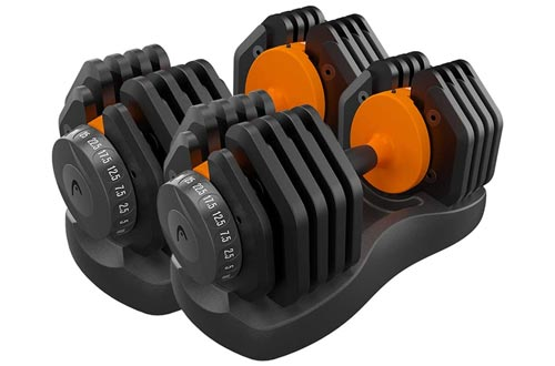 7. Thole Fitness Dumbbell Adjustable Set for Male and Female Equipment Home Training Arm Muscle Gym