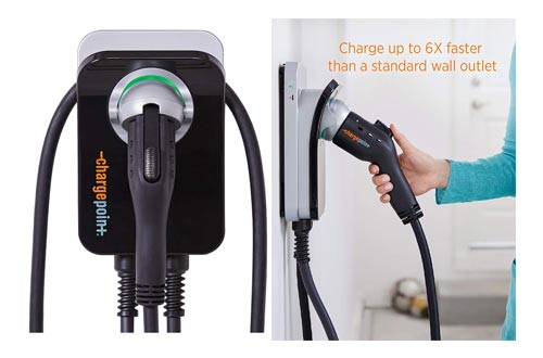 8. ChargePoint Home Electric Vehicle - Level 2 240V, 32A Electric Car Charger for All EVs