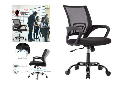 8. Ergonomic Desk Chair by BestOffice - Computer Chair Lumbar Support - Modern Executive Adjustable Stool Rolling Swivel Chair for Back Pain