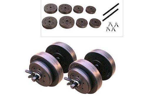 9. Gold's Gym 40 Pound LB Vinyl Cement Dumbbell Weight Set