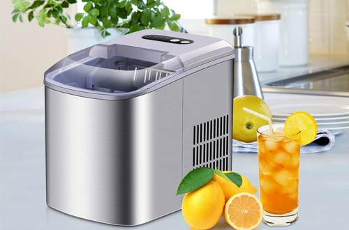 Allsees PortableStainless Steel Countertop Ice Maker Machines
