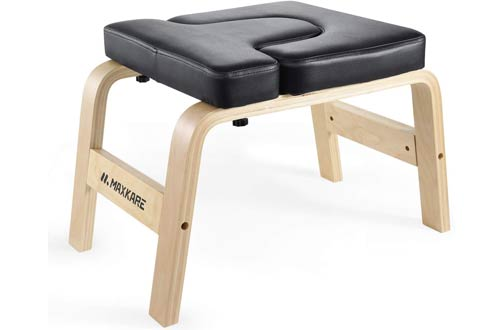 MaxKare Yoga Headstand Bench - Wood Stand Yoga Inversion Chairs