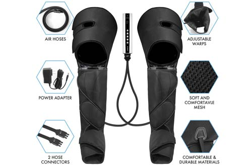 CINCOM Full Leg Massagers for Foot Calf Thigh with Portable Handheld Controller