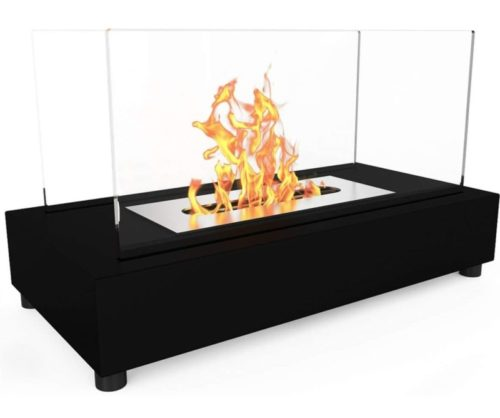 1.Regal Flame Avon Ventless Indoor Outdoor Fire Pit Tabletop Portable Fire Bowl Pot Bio Ethanol Fireplace in Black