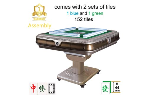 10. Assembled 144 Chinese 44mm Tiles Folding Automatic Mahjong Table w Drawers