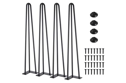 10. SMARTSTANDARD Heavy Duty Hairpin Coffee Table Thick Set of Four Legs 4, 28 Inch 4PCS