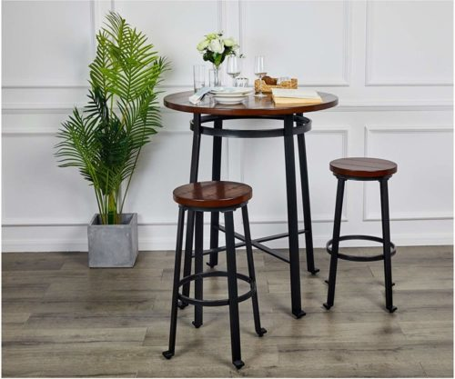 10.Ball & Cast Bar Table - 42 Inch, Rustic Brown