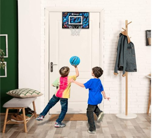 13.AND1 Over The Door Mini Hoop Easy to Install Portable Basketball Hoop with Steel Rim
