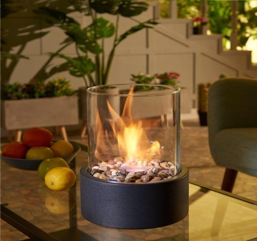 13.Danya B. Indoor Outdoor Portable Tabletop Fire Pit – Clean-Burning