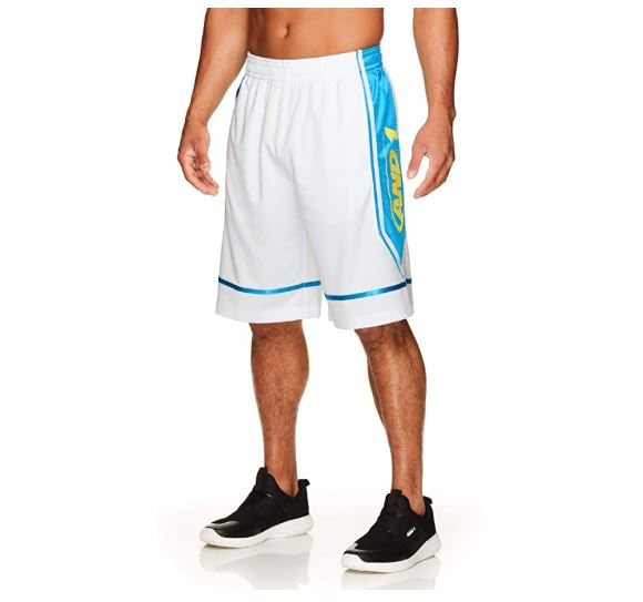 14.AND1 Men's Basketball Gym & Running Shorts wElastic Waistband & Pockets - 12 Inch Inseam