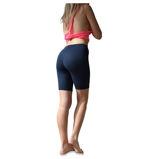 15.Sexy Basics Womens 6 Pack Buttery Soft Brushed Active Stretch Yoga Bike Short Boxer Briefs