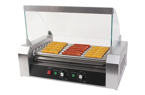 3. Goplus Commercial 18 7 Grill Cooker Machine with Cover
