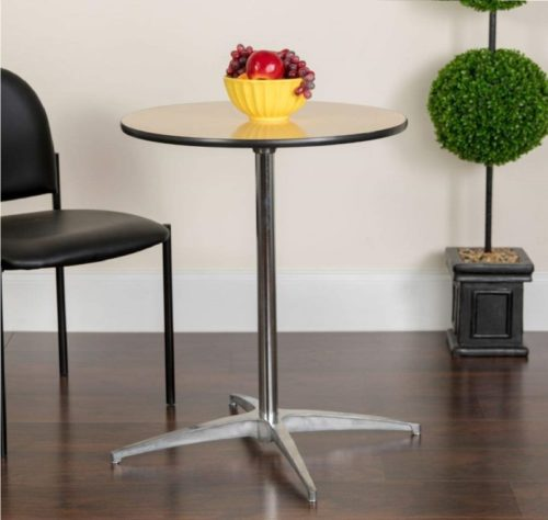 3.Flash Furniture 30 Round Wood Cocktail Table