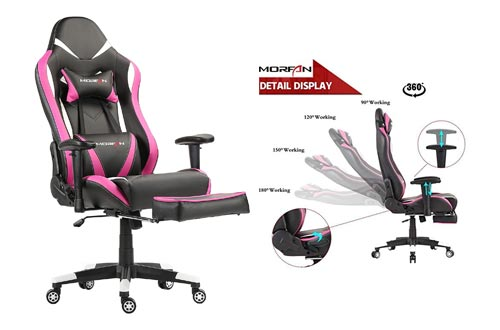 4. MORFAN Gaming Chair Large Size Racing Chair with Footrest Computer Office Chair