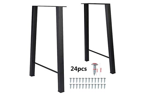 4. Tengchang Industry Trapezoid Dinner Table Leg Metal Cast Iron Bench Legs Set of 2