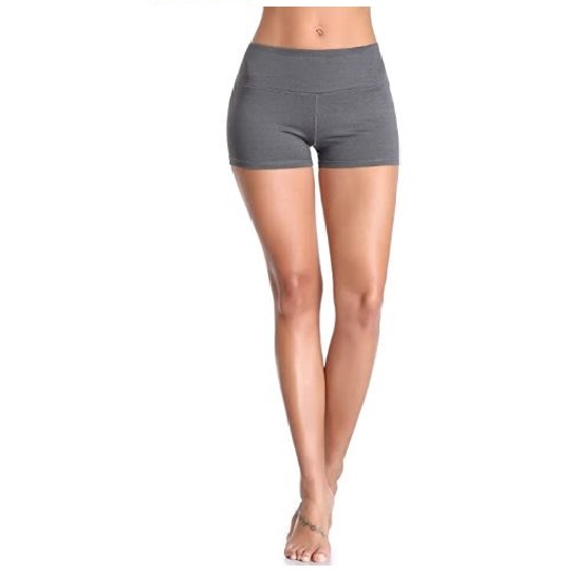 4.Cadmus Women's High Waist Stretch Athletic Workout Shorts with Pocket