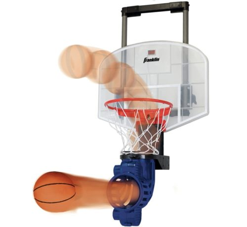 4.Franklin Sports Mini Basketball Hoop with Rebounder and Ball - Over The Door Basketball Hoop