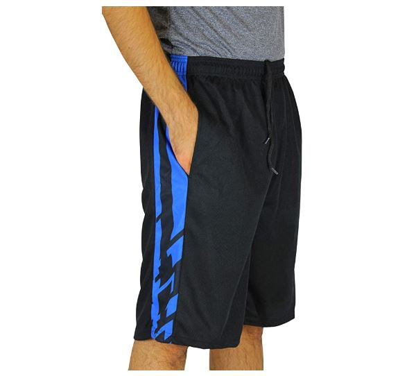 4.Real Essentials Men's Active Athletic Performance Shorts with Pockets - 5 Pack