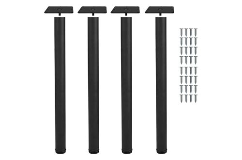5. Action Club Height Tall Adjustable Metal Office Table Furniture Leg Set Black, Set of 4