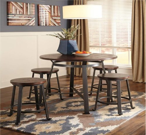 5.Signature Design by Ashley - Challiman Dining Room Bar Table