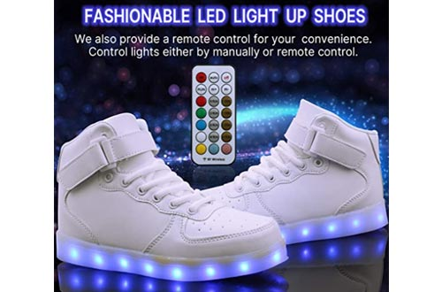 6. WONZOM LED Light Up Shoes USB Flashing Sneakers for Toddler Kids Boots