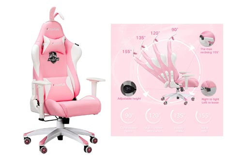 7. Gaming Chair Large Size High-Back PU Leather Ergonomic Racing Seat with Lumbar Support