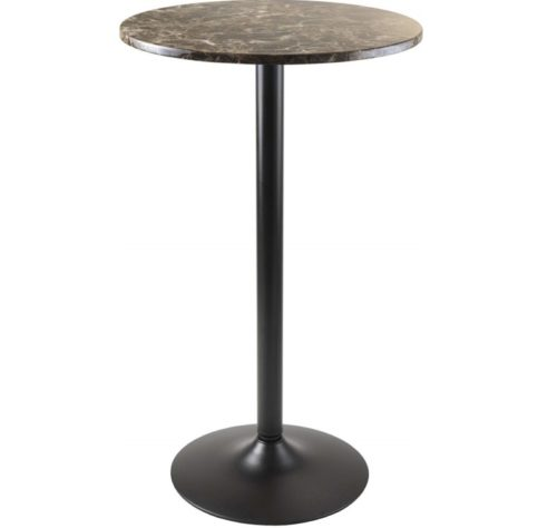 7.Winsome Cora Dining, Black Faux Marble