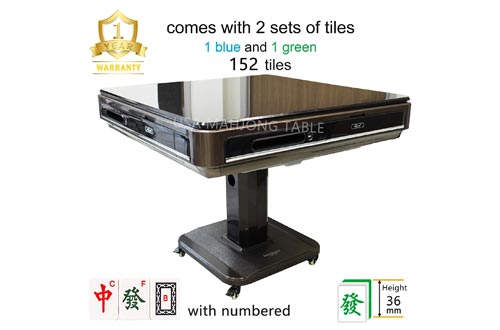 8. 144 Tiles 36mm Unfolding Automatic Mahjong Table w Wheels Drawers