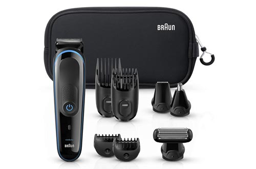 8. Braun All-in-one trimmer, 9-in-1 Beard Trimmer, Hair Clipper, Ear and Nose Trimmer