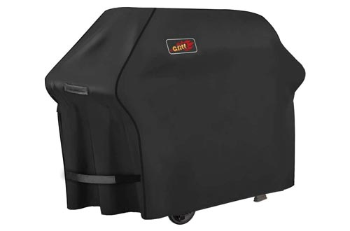 8. Homitt Gas Grill Cover, 58-inch 3-4 Burner 600D Heavy Duty Waterproof BBQ Cover