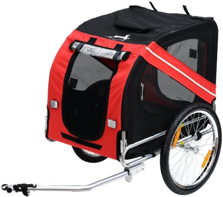 Aosom Elite Pet Dog Bike Trailer