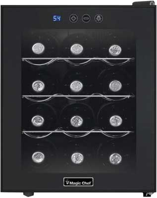 2. 12 Bottle Single Zone Wine Refrigerators by Magic Chef