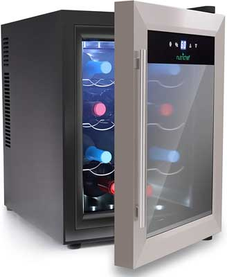 4. 12 Bottle Stainless Steel Wine Cooler by NutriChef