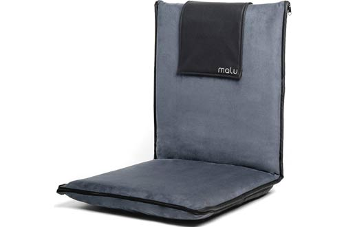 Malu Luxury Portable Foldable Padded Floor Chairs with Back Support