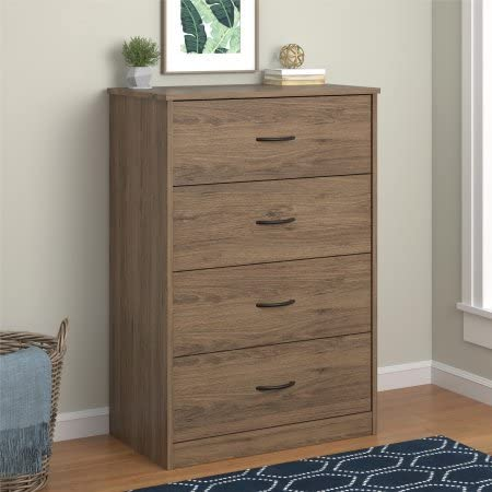 Mainstays 4 Drawer Dressers, Rustic Oak